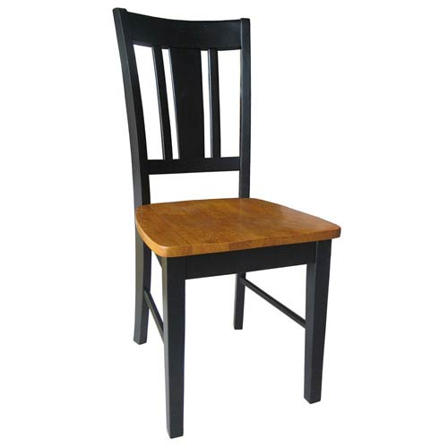 International Concepts Dining Essentials Black and Cherry Set of Two San Remo Splatback Chairs