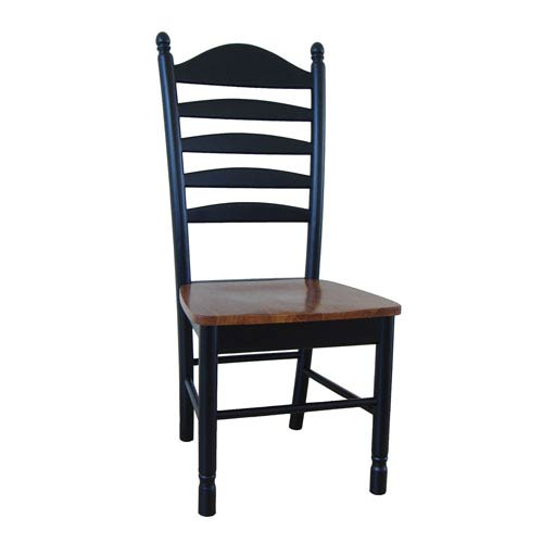 International Concepts Madison Park Black With Cherry Ladderback Chair Set  Of Two