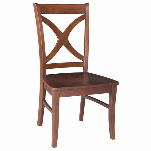 Salerno Dining Chair Espresso Wooden Seat, Set of Two