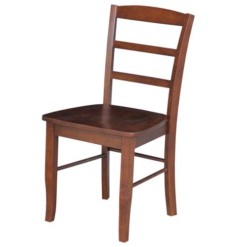 Madrid Dining Chair Espresso Ladder Back, Set of Two