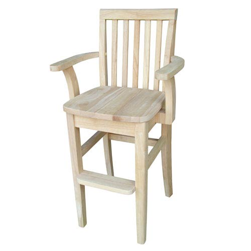 International Concepts Unfinished Juvenile Mission Chair