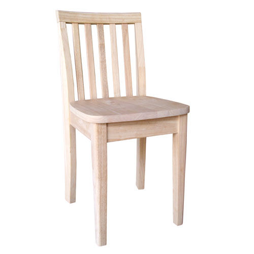International Concepts Unfinished 28-Inch Juvenile Chair, Set Of Two
