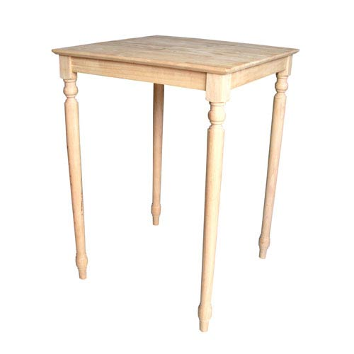 Unfinished 42-Inch Square Bar Height Table