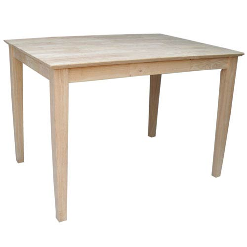Unfinished 30 x 42-Inch Dining Table