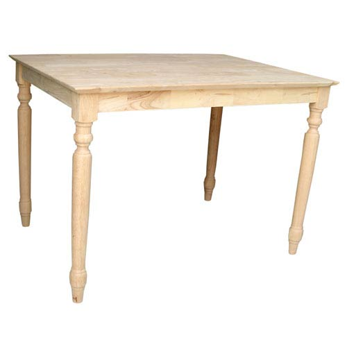 International Concepts Unfinished 42 x 30-Inch Dining Table