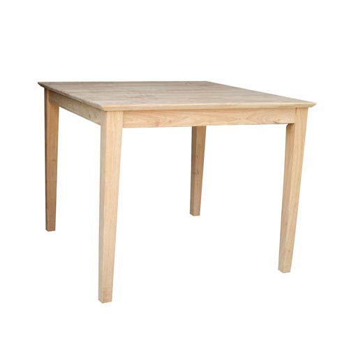 36 inch square dining table international concepts unfinished 36inch square dining table 36 inch 3636