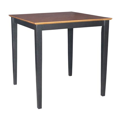 Black And Cherry 36 x 36-Inch Solid Wood Counter Height Table