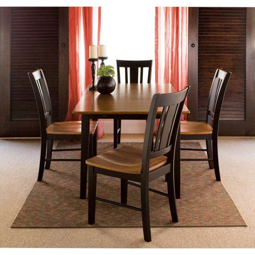 Black And Cherry 32 x 48-Inch Five Piece Dining Set