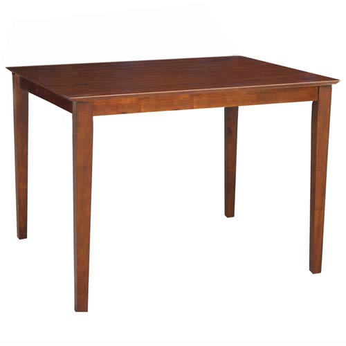 International Concepts Dining Espresso 48 x 36-Inch Solid Wood Top Table with Shaker Legs