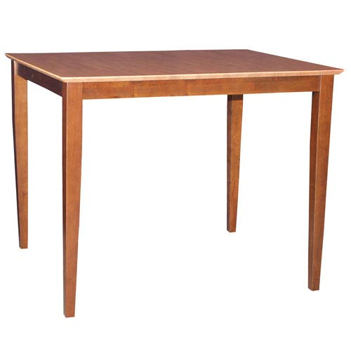 Cinnamon And Espresso 48 x 36-Inch Solid Wood Counter Height Table