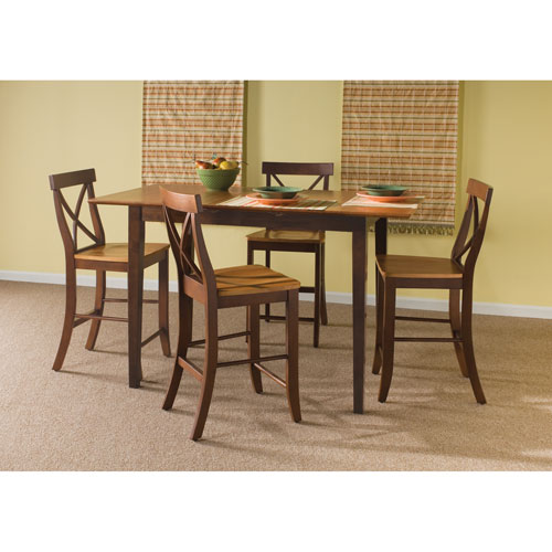 International Concepts Cinnamon And Espresso Five Piece Gathering Table Set