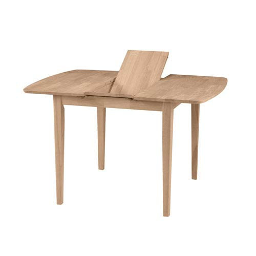 International Concepts Unfinished Dining Table with Butterfly Extension