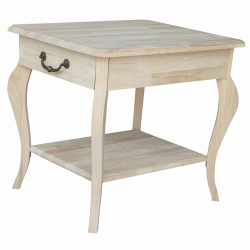 Unfinished Cambria End Table