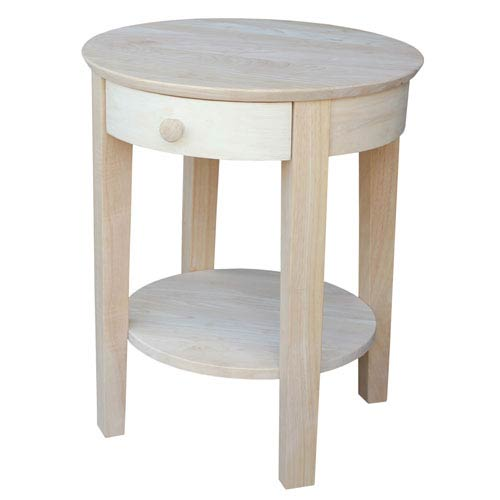 International Concepts Occasional Unfinished Accent  Philips End Table