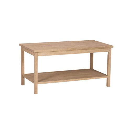 International Concepts Occasional Unfinished Wood Portman Coffee Table