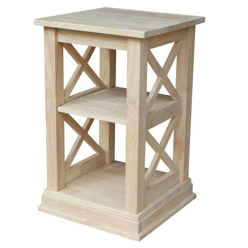 Hampton Accent Table with Shelves