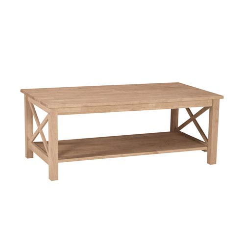 Occasional Unfinished Wood Hampton Coffee Table