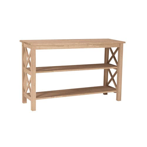 International Concepts Occasional Unfinished Wood Hampton Console Or Sofa Table