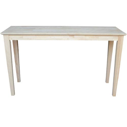 International Concepts Shaker Unfinished Wood Sofa Table