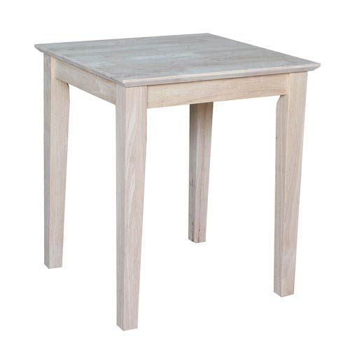 Occasional Unfinished Wood Shaker End Table