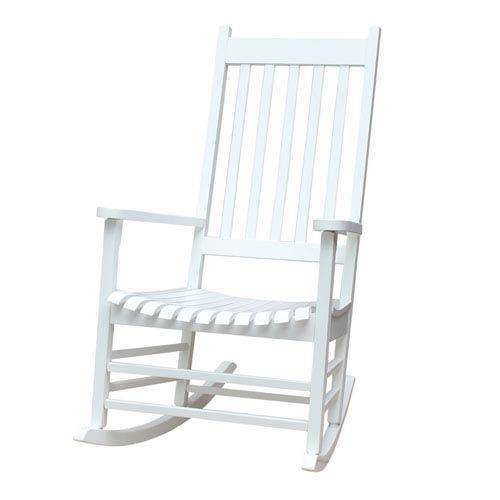 White Outdoor Porch Rocker