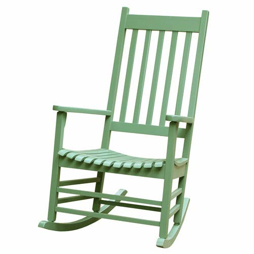 Moss 46-Inch Solid Wood Porch Rocker