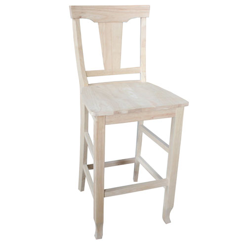 Unfinished 30-Inch Arlington Counter Height Stool