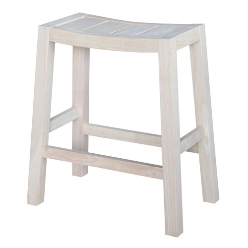 Unfinished 24-Inch Ranch Stool