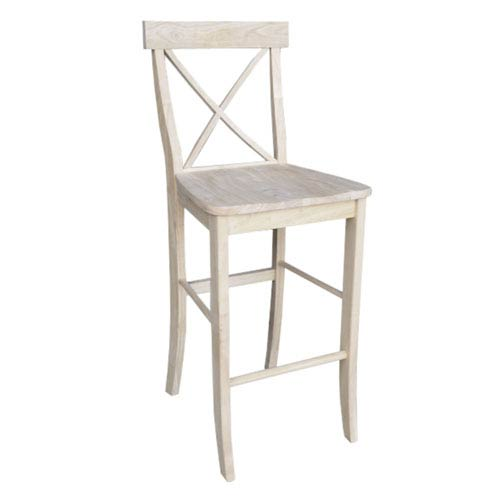 International Concepts Seating-Stools Unfinished Wood 29 Inch Seat Height