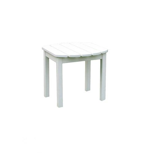White Outdoor Adirondack Side Table