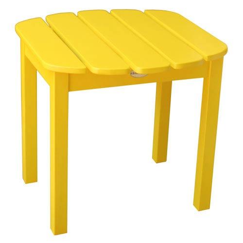 Yellow Outdoor Adirondack Side Table