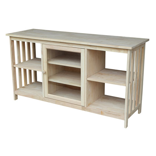 Unfinished 56-Inch Mission Entertainment Stand