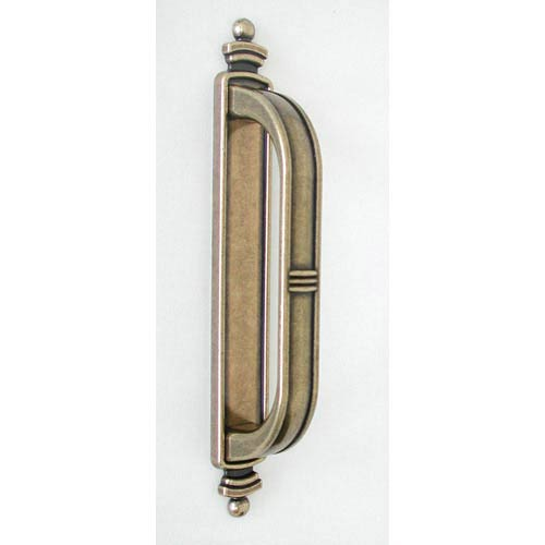 Antique Brass Large Latch Handle with Backplate