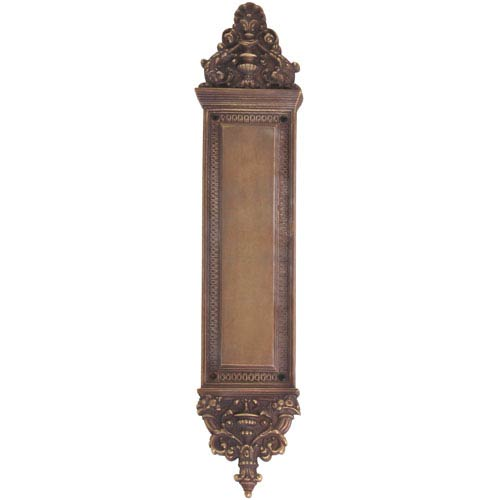 Brass Accents Apollo Aged Brass 18-Inch Push Plate