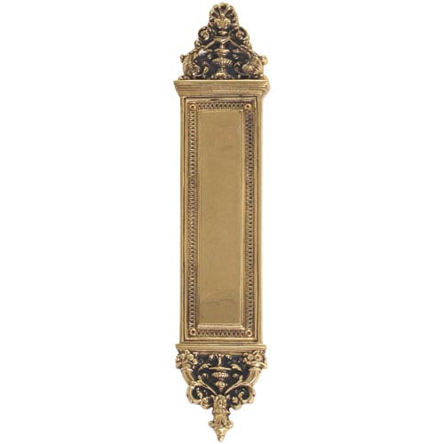 Brass Accents Apollo Highlighted Brass 18-Inch Push Plate