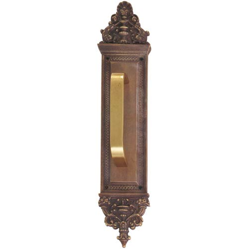 Brass Accents Apollo Aged Brass 18-Inch Pull Handle and Plate