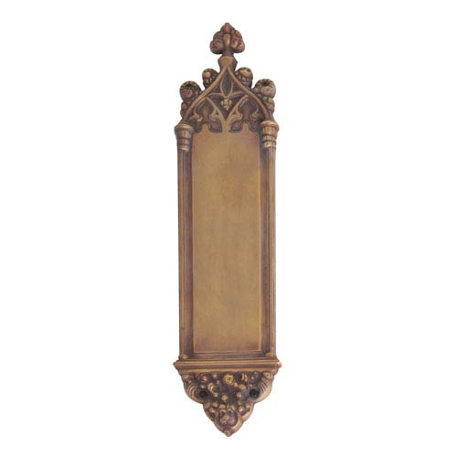 Brass Accents Gothic Aged Brass 16-Inch Push Plate