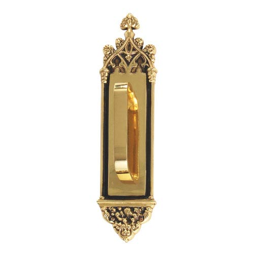 Brass Accents Gothic Highlighted Brass 16-Inch Pull Handle and Plate