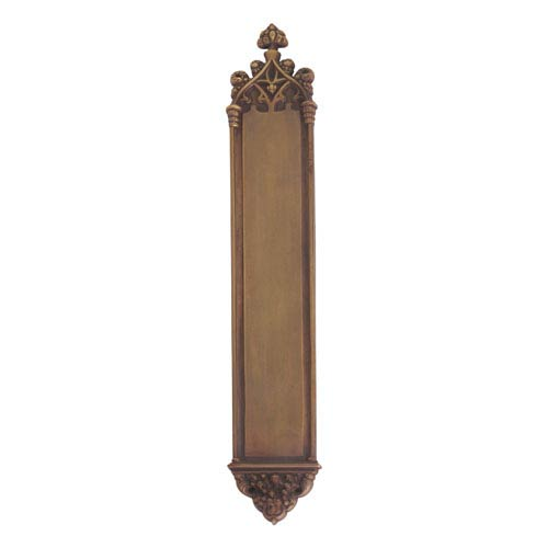 Brass Accents Gothic Aged Brass 23 3/4-Inch Push Plate