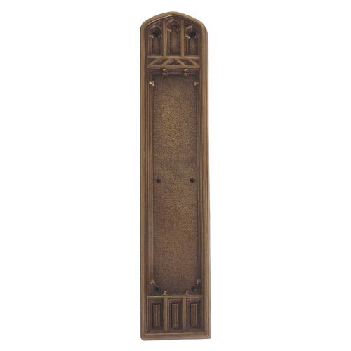 Brass Accents Oxford Aged Brass 18-Inch Push Plate
