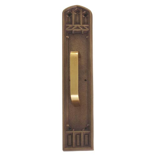 Brass Accents Oxford Aged Brass 18-Inch Pull Handle and Plate