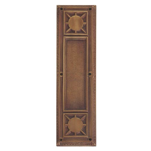 Brass Accents Nantucket Aged Brass 13 7/8-Inch Push Plate