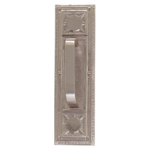 Nantucket Satin Nickel 13 7/8-Inch Pull Handle and Plate
