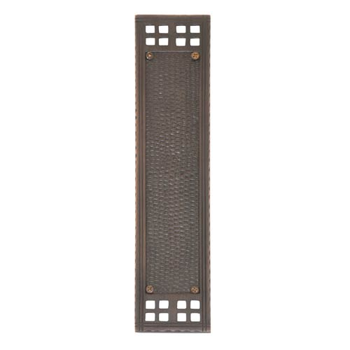 Arts and Crafts Venetian Bronze Push Plate