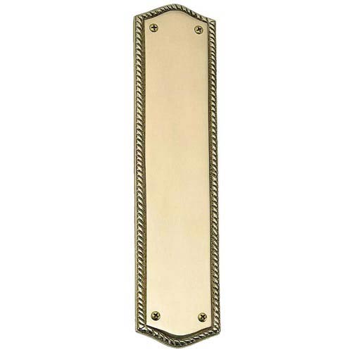 Brass Accents Oval Rope Lacquered Polished Brass Push Plate