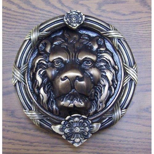 Brass Accents Antique Brass Leo Lion Door Knocker - 8 3/8-Inch - Brass Accents Antique Brass Leo Lion Door Knocker 8 3/8 Inch A07