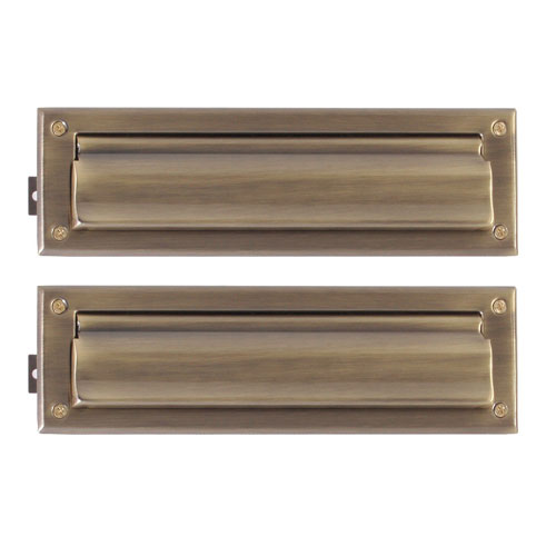 Traditional Antique Brass 3.63-Inch x 13-Inch  Mail Slot