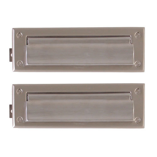 Br Accents Traditional Satin Nickel 3 Inch X 10 Mail Slot