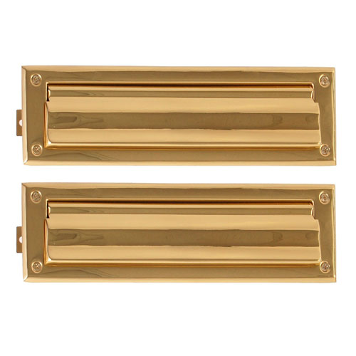 Brass Accents Traditional Physical Vapor Deprivation 3-Inch x 10-Inch Mail Slot