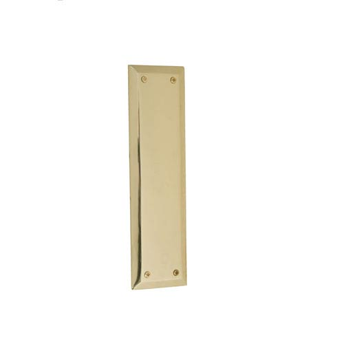 Quaker Polished Brass 10-Inch Push Plate
